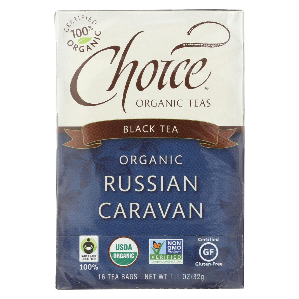 Choice Organic Black Tea - Russian Caravan - Case Of 6 - 16 Bags