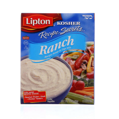 Lipton Soup And Dip Mix - Recipe Secrets - Ranch - Kosher - Packet - 2.4 Oz - Case Of 12