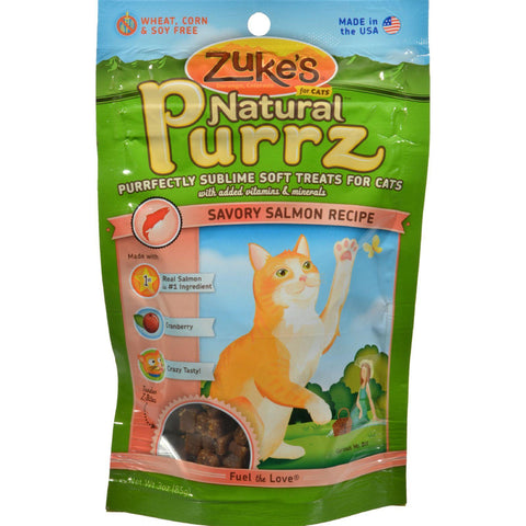 Zuke's Natural Purrz Cat Treats Salmon - 3 Oz