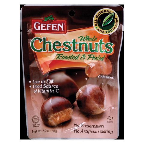 Gefen Whole Chestnuts - Low Fat - Case Of 12 - 5.2 Oz.
