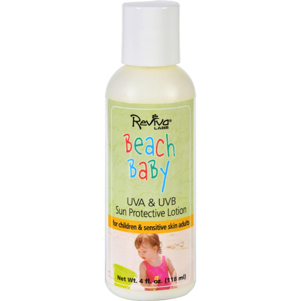 Reviva Labs Beach Baby Sun Protective Lotion No 575 Uva And Uvb Spf 25 - 4 Fl Oz