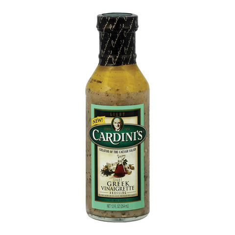 Cardini's Dressing - Light Greek Vinaigrette - Case Of 6 - 12 Fl Oz