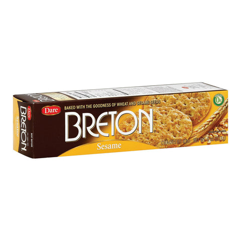 Dare Breton Crackers - Sesame - Case Of 12 - 8 Oz.