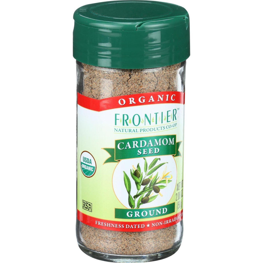 Frontier Herb Cardamom Seed - Organic - Ground - Decorticated - No Pods - 2.08 Oz
