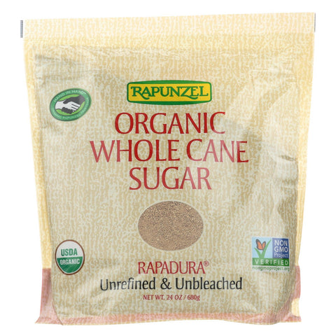 Rapunzel Organic Whole Cane Sugar - Case Of 12 - 24 Oz.