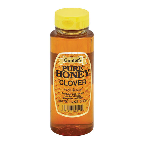 Gunter Pure Clover Honey - Case Of 12 - 12 Oz.