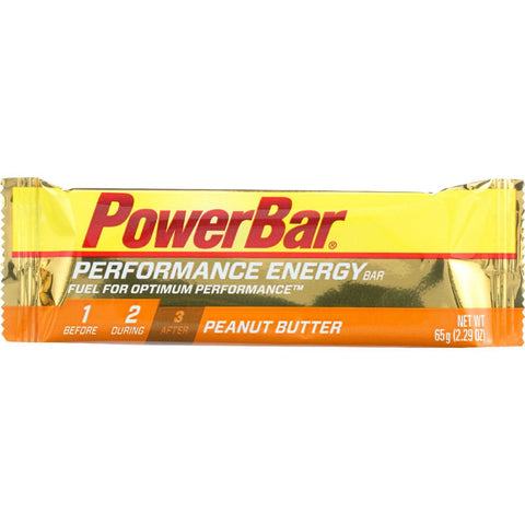 Powerbar Bar - Performance Energy - Peanut Butter - 2.29 Oz - Case Of 12