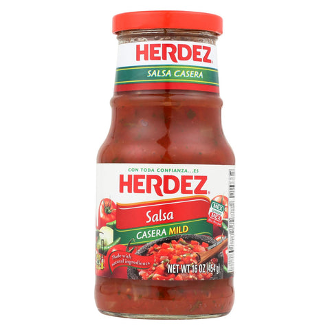 Herdez Salsa - Casera Medium - Case Of 12 - 16 Oz.