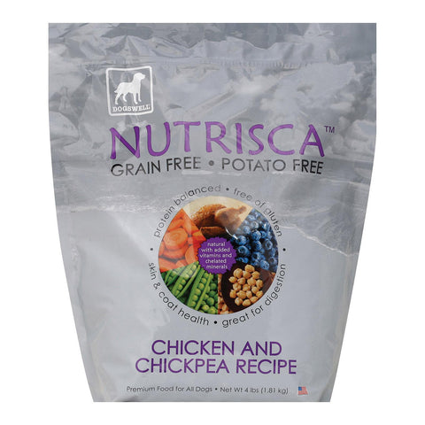 Dogs Well Nutrisca Chicken And Chickpea Dog Food - Case Of 6 - 4 Lb.