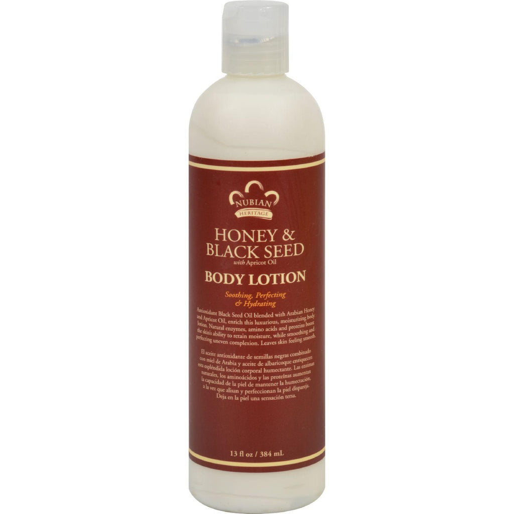 Nubian Heritage Lotion - Honey And Black Seed - 13 Oz