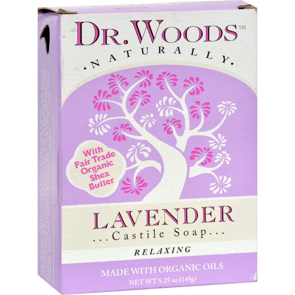 Dr. Woods Castile Bar Soap Lavender - 5.25 Oz
