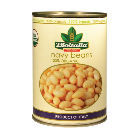 Bioitalia Beans - Navy Beans - Case Of 12 - 14 Oz.