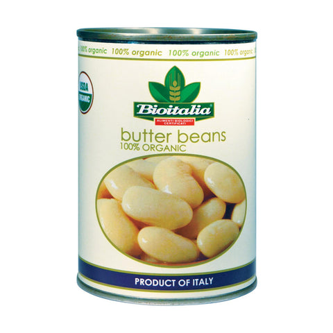 Bioitalia Organic Beans - Butter Beans - Case Of 12 - 14 Oz.