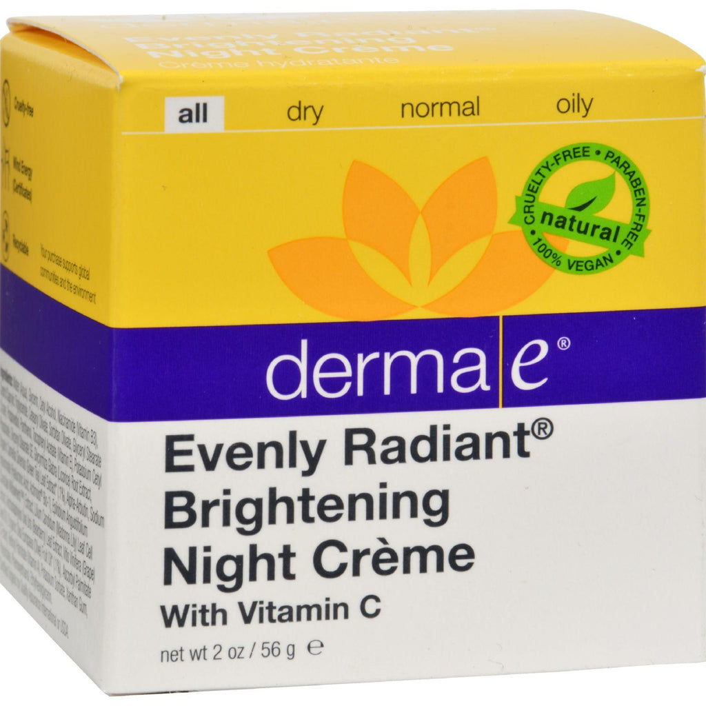 Derma E Evenly Radiant Night Creme - 2 Oz