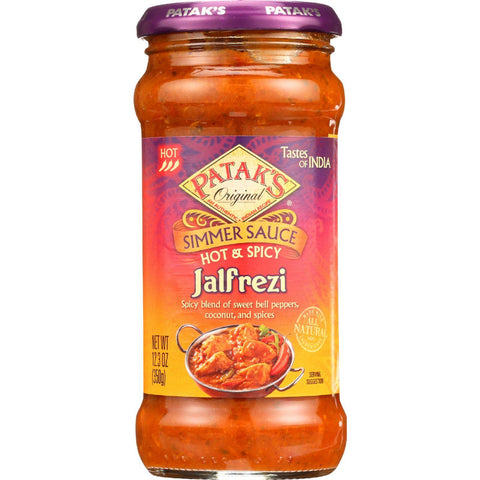 Pataks Simmer Sauce - Hot And Spicy - Jalfrezi - Hot - 12.3 Oz - Case Of 6