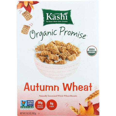 Kashi Cereal - Organic - Whole Wheat - Organic Promise - Autumn Wheat - 16.3 Oz - Case Of 12