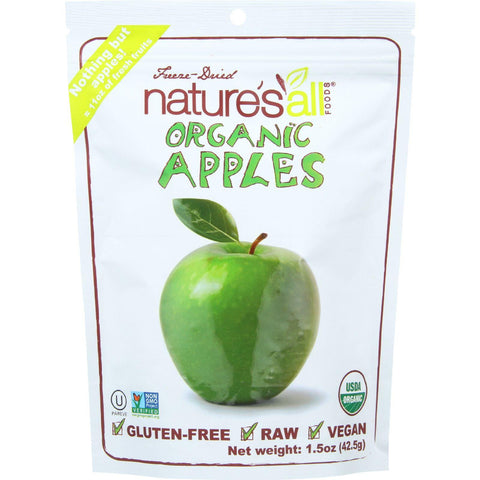 Natierra Fruit - Organic - Freeze Dried - Apples - 1.5 Oz - Case Of 12