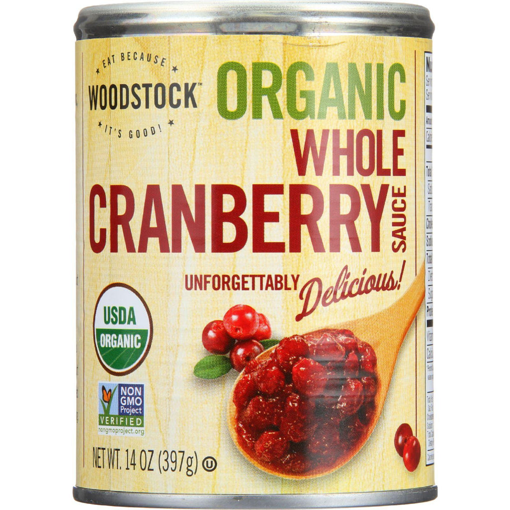 Woodstock Cranberry Sauce - Organic - Whole Berry - 14 Oz - Case Of 24