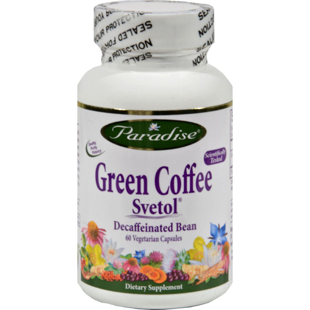 Paradise Herbs Green Coffee Svetol - 60 Vcaps