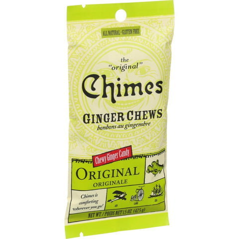 Chimes Ginger Chews - Original Refreshing Ginger - 1.5 Oz - Case Of 12