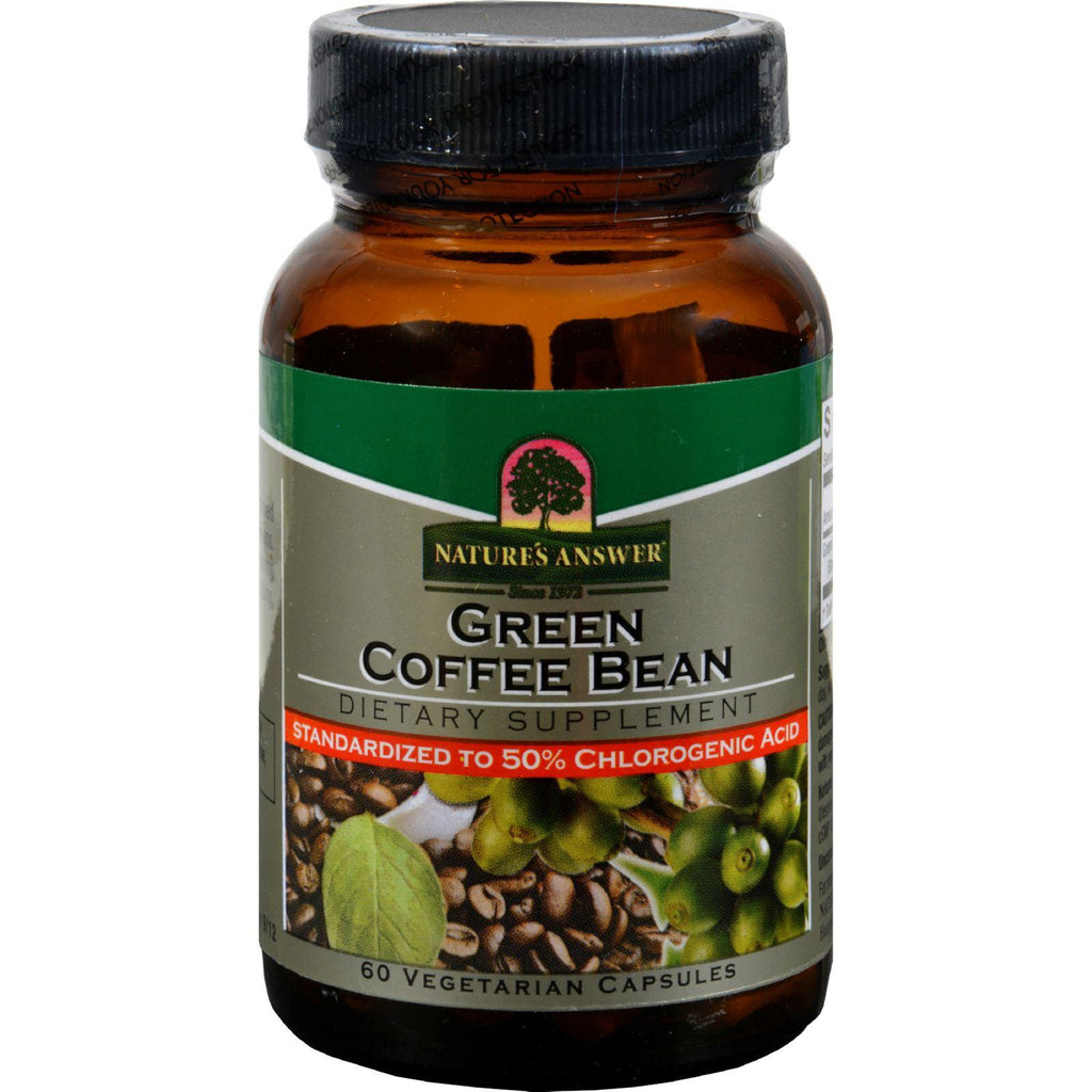 Nature's Answer Green Coffee Bean Extract - 60 Vcaps