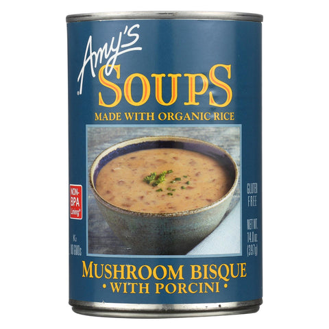 Amy's Mushroom Bisque With Porcini - Case Of 12 - 14 Oz