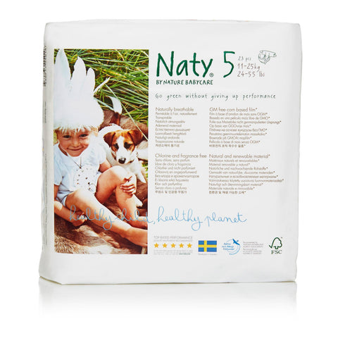 Naty - Baby Diaper Size 5 27lb - Case Of 4 - 23 Ct