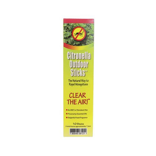 Neem Aura Naturals Outdoor Citronella Sticks - 10 Count - Case Of 36