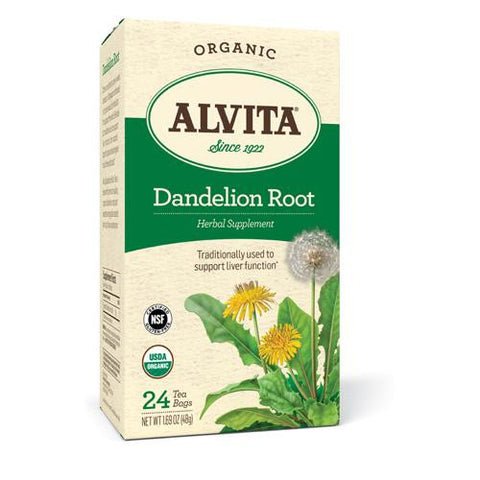 Alvita Teas Organic Herbal Dandelion Tea - 24 Tea Bags