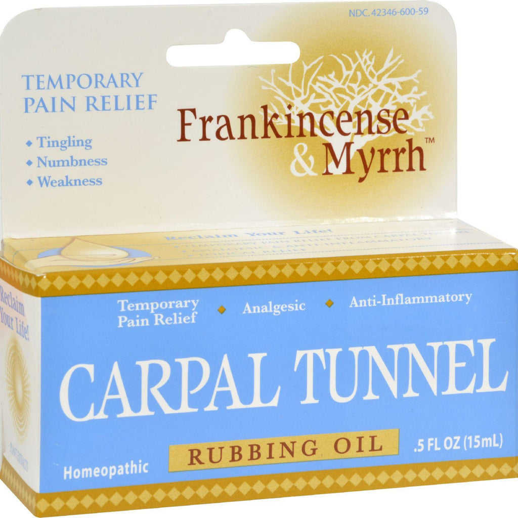 Frankincense And Myrrh Carpal Tunnel Rubbing Oil - 0.5 Fl Oz