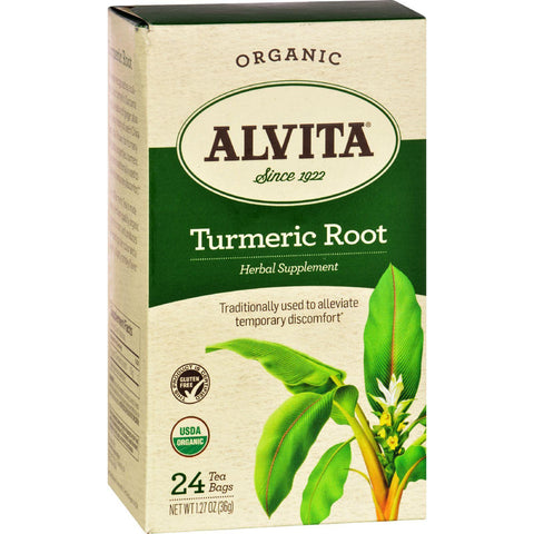 Alvita Teas Organic Herbal Tumeric Tea - 24 Bags
