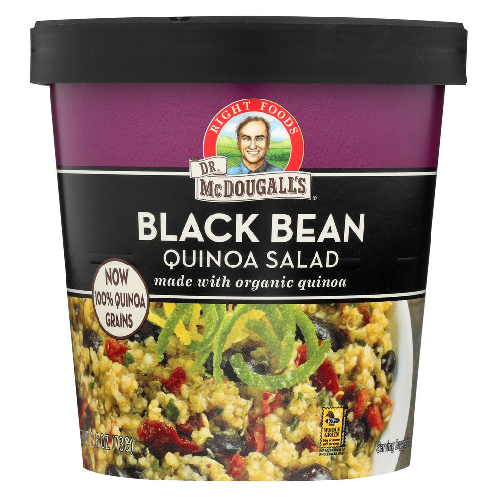 Dr. Mcdougall's Black Bean Quinoa Salad - Case Of 6 - 2.6 Oz.