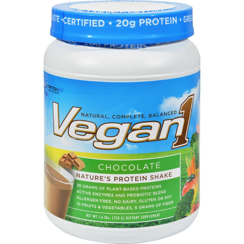 Nutrition53 Vegan1 Shake - Chocolate - Gluten Free - 1.5 Lbs