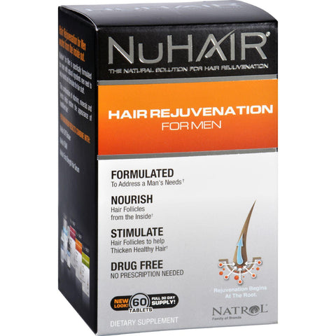 Nuhair Hair Regrowth For Men - 60 Tablets