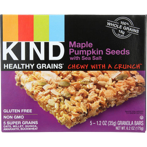 Kind Bar - Granola - Healthy Grains - Maple Pumpkin Seeds With Sea Salt - 5-1.2 Oz - Case Of 8