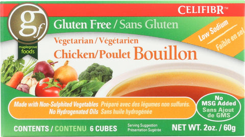 Celifibr Soup Bouillon Cubes - Vegetarian Chicken - 2 Oz - Case Of 12