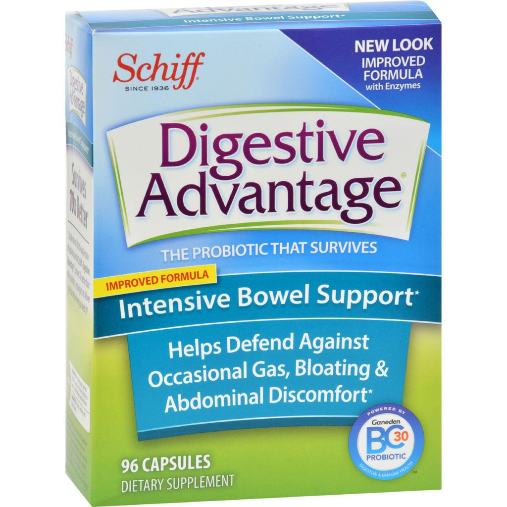 Schiff Vitamins Digestive Advantage - Intensive Bowel Support - 96 Capsules