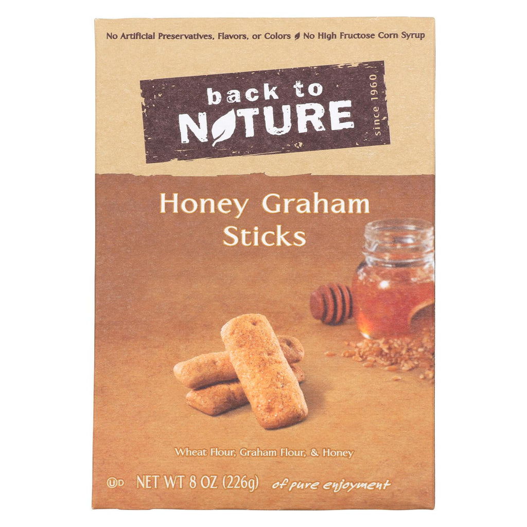 Back To Nature Honey Graham Sticks - Graham Flour And Honey - Case Of 6 - 8 Oz.