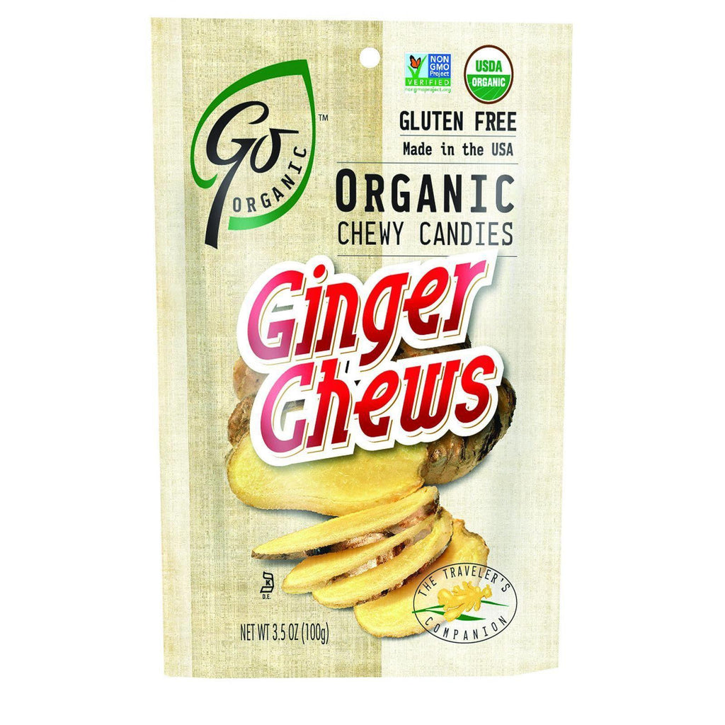 Go Organic Ginger Chews - 3.5 Oz - Case Of 6