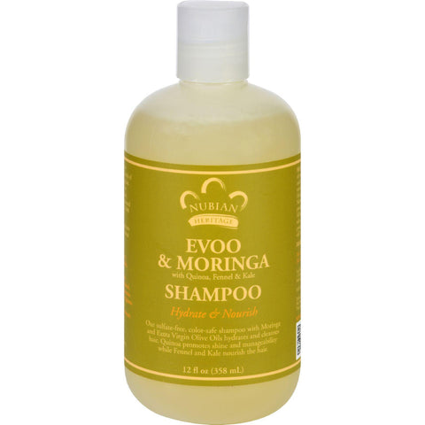 Nubian Heritage Shampoo - Evoo And Moringa - Repair And Extend - 12 Oz