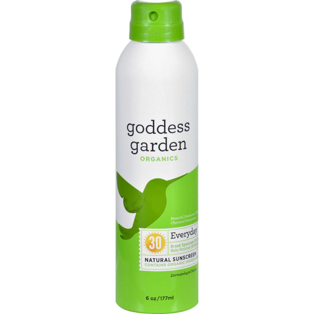 Goddess Garden Organic Sunscreen - Sunny Body Natural Spf 30 Continuous Spray - 6 Oz