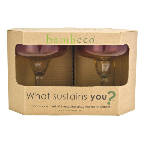 Bambeco Rioja Recycled Margarita Glass - Case Of 6
