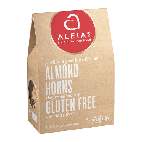 Aleia's Gluten Free Cookies - Almond Horns - Case Of 6 - 9 Oz.