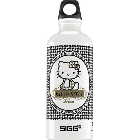 Sigg Water Bottle - Hello Kitty Pepita - .6 Liters