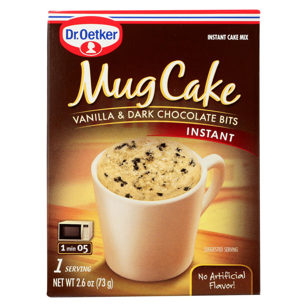 Dr. Oetker Organics Mug Cake Vanilla And Dark Chocolate Bits Instant Cake Mix - Case Of 12 - 2.6 Oz.