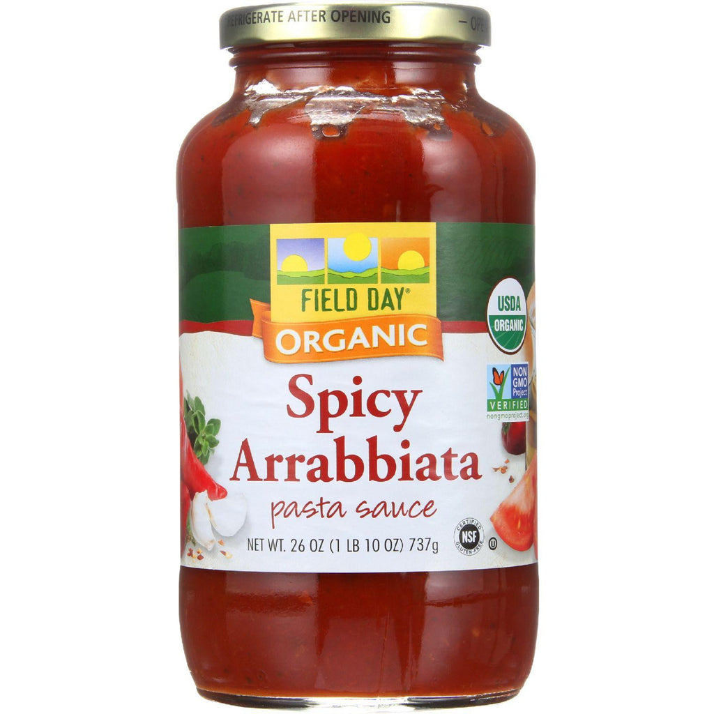 Field Day Pasta Sauce - Organic - Spicy Arrabbiata - 26 Oz - Case Of 12