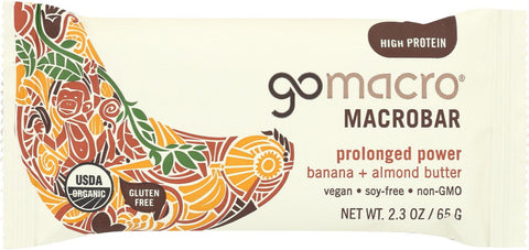 Gomacro Organic Macrobar - Banana And Almond Butter - 2.3 Oz Bars - Case Of 12