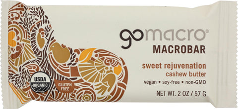 Gomacro Organic Macrobar - Cashew Butter - 2 Oz Bars - Case Of 12