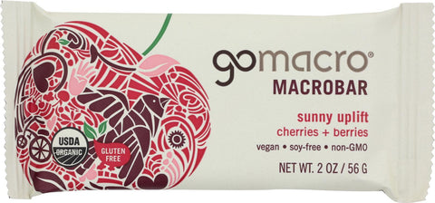 Gomacro Organic Macrobar - Cherries And Berries - 2 Oz Bars - Case Of 12