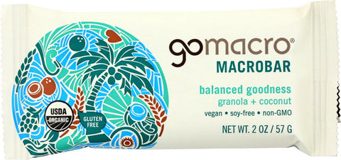 Gomacro Organic Macrobar - Granola With Coconut - 2 Oz Bars - Case Of 12